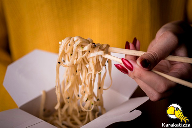 Лапша вок в коробочках - онлайн-ресторан «Каракатица»