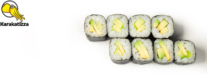 Роллы с овощами в доставке суши Каракатица