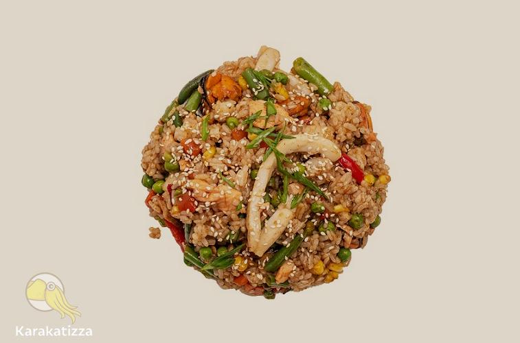 Рис с морепродуктами в онлайн-ресторане Каракатица
